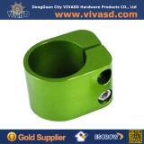 Billette de collier de serrage en aluminium anodisé de couleur verte