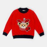 Les patrons de tricot Boys'chandail d'hiver avec des animaux de la broderie