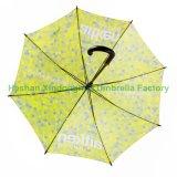 Promoción automática paraguas recto de fibra de vidrio para la impresión digital (SU-1423BF)