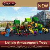 Glissière extérieure de cour de jeu d'enfants durables de qualité de GV (X1506-5)