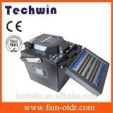 Empalme óptico de la fusión de fibra de Techwin similar a la encoladora de la máquina de Fujikura que empalma