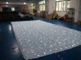 LED-Stern-Vorhang mit weißem LEDtwinkle-Hochzeits-Hintergrund-Tuch