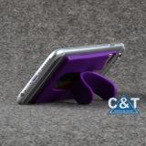 Suporte adesivo do suporte de cartão da identificação do crédito do silicone/luva do malote