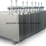 より多くの不純物、特別で高い粘着性の流動熱交換器を含んでいる液体
