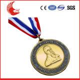 Medaille Van uitstekende kwaliteit van het Metaal van de Bevordering van de douane de Goedkope met Lint