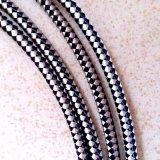 Weiß und Black Woven Patterns Braided Cable
