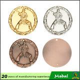 Balompié de encargo del oro de la galjanoplastia de la medalla del metal al por mayor barato
