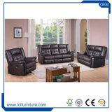 كلاسيكيّة رفاهية [جنوين لثر] أريكة أثاث لازم يعيش غرفة أريكة يثبت مع [شيس]