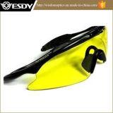 노란 색깔 전술상 스포츠 UV400 총격사건 유리