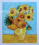 반고호 일요일 꽃 유화 재생산