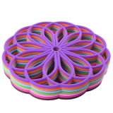Rilievo flessibile di Placemat del sottobicchiere della Tabella di Trivet del silicone con la FDA 100% dell'alimento