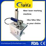 marcadora láser de fibra de plástico ABS Alumnium Metal