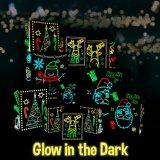 Kundenspezifischer Weihnachtsfeiertags-Glühen-in-D-Dunkler Geschenk-Beutel, Geschenk-Set mit eindeutigen leuchtenden festlichen Entwürfen u. Muster