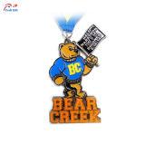 로고 판매를 위한 창조적인 운영하는 금속 메달을 주문을 받아서 만드십시오
