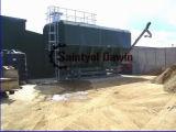 Silo de cemento horizontal con el transportador de tornillo de la ranura en venta