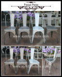 Métal empilable dinant industriel de salle de séjour de restaurant de chaise de cru commercial différent de couleurs dinant la chaise