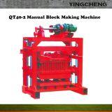 Kleiner manueller vibrierter Ziegelstein-Block, der Maschine Qtj4-40 herstellt