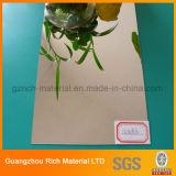 プラスチックアクリルミラーSheet/PMMAの風防ガラスアクリルの着服ミラーシート