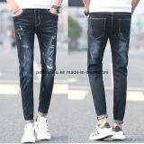 Jeans strappati retro zona di svago dei pantaloni degli uomini di alta qualità sottile