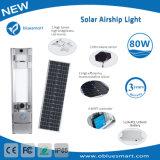 1개의 태양 제품 LED 가로등 80W에서 센서 전부