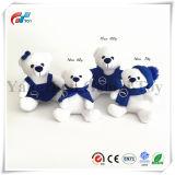 스카프 눈 인쇄를 가진 사랑스러운 백곰 남성 & 여성 장난감 곰 크리스마스 곰 장난감