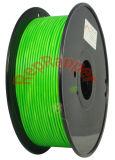 Además de ABS en espiral de 3,0 mm de color verde fluorescente filamentos 3D.