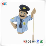 Animated Gestures를 위한 Detachable Wooden Rod를 가진 경찰 Officer Puppet