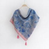 As mulheres Fashion Paisley impresso lenço de seda de viscose (YKY1147)