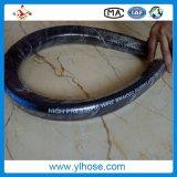 La manguera hidráulica de alta presión de la manguera de caucho negro
