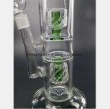 Фильтр гнездя прозрачной и зеленой птицы Двойн-Слоя рециркулируя стеклянную трубу
