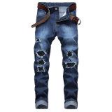 Os homens de alta qualidade trecho Slim desgastam Jeans Rasgadas