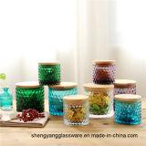 Heet verkoop het Gekristalliseerde Glaswerk van de Kop van de Kaars van het Glas voor Opslag