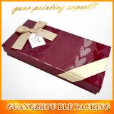 Les boîtes en carton UV de cadeau de papier de logo d'endroit avec la bande cintrent en gros (BLF-GB485)