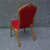 Hôtel de fer chaise avec tissu rouge (YC-ZL22-03)