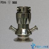 Válvula de amostra de aço inoxidável sanitário com extremidades de tri clamp