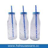 350ml de leche de vidrio transparente de vidrio de botella, Vaso de Agua Potable