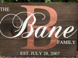 Personalizado personalizado creado de la familia Signos de madera de regalo