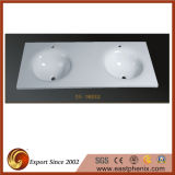 Chines White Crystallized Stone Bathroom Sinks