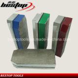 Bloque de metal Bond diamante para rectificado y pulido de la losa del granito