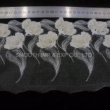 Vestito da cerimonia nuziale accessorio della decorazione del tessuto del merletto del ricamo del filato dell'indumento di modo
