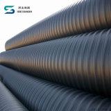 Stahlband-Stärke PET Spirale HDPE gewölbtes Rohr mit Befestigungen