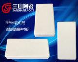 Scheda di ceramica del rivestimento dell'allumina resistente all'uso di 99%