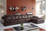 Sofà sezionale della mobilia di cuoio moderna del sofà con cuoio genuino