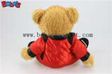 """10"""" de l'ours en peluche animal en peluche Porter du rouge rejoint organes ours en peluche de vêtements de course du véhicule"""