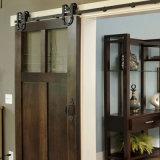 Conception américaine Portes en bois solide pour l'hôtel Grange coulissante de porte de l'intérieur