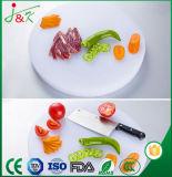 Cozinha de PE de plástico branco placa de corte redonda