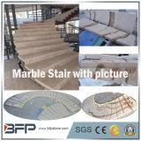 Pietra beige Polished/scala di marmo/punto/ingresso delle mattonelle pavimento della colonna montante