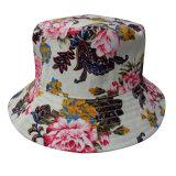 Chapéu da cubeta com tela floral (BT064)