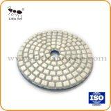 """4개의 """" 연한 색 돌을%s 100mm 백색 색깔 다이아몬드 닦는 패드"""