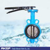 Aço inoxidável/válvula de borboleta Ductile de /Wafer do ferro